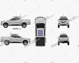Renault Alaskan Concept 2015 car clipart