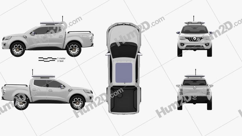 Renault Alaskan Concept 2015 Clipart Image
