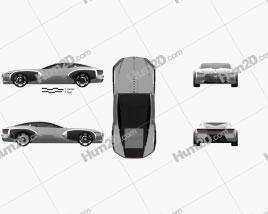 Renault Coupe C 2016 car clipart