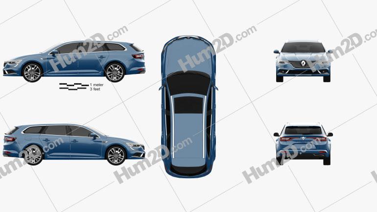 Renault Talisman estate 2016 car clipart