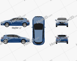 Renault Megane GT 2016 car clipart
