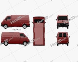 Renault Master Panel Van 1980 clipart