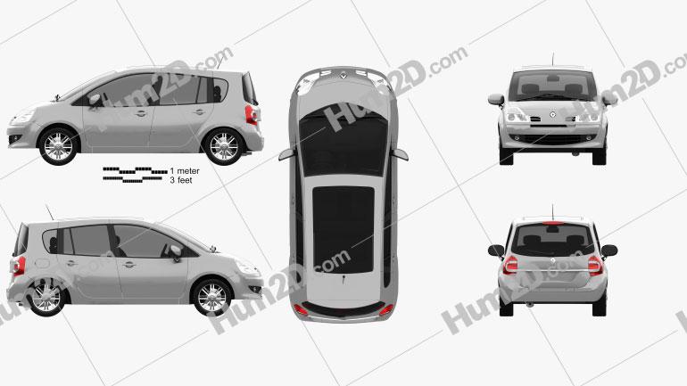 Renault Grand Modus 2008 clipart