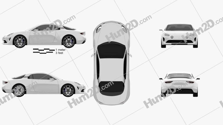 Renault Alpine Vision 2016 car clipart