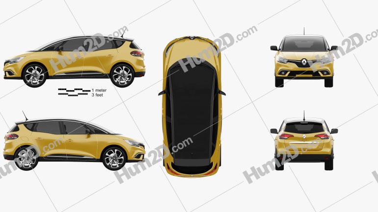 Renault Scenic 2016 car clipart