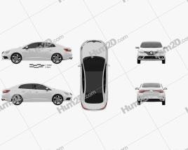 Renault Megane sedan 2016 car clipart