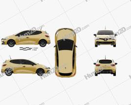 Renault Clio RS 5-door hatchback 2016 car clipart