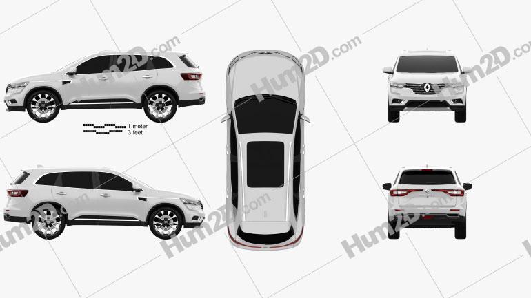 Renault Koleos 2016 car clipart