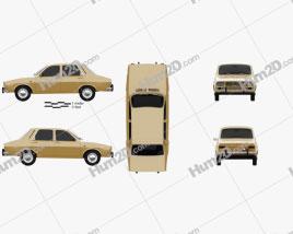 Renault 12 1969 car clipart