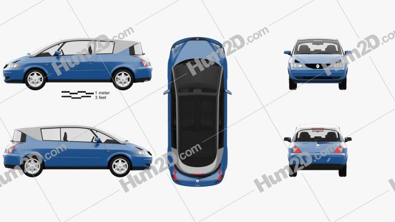 Renault Avantime 2001 car clipart