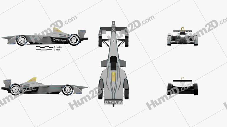 Spark-Renault SRT_01E 2014 car clipart