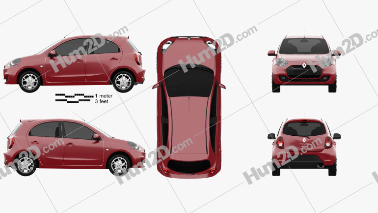 Renault Pulse 2011 car clipart