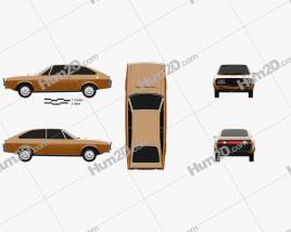 Renault 15 1971 car clipart