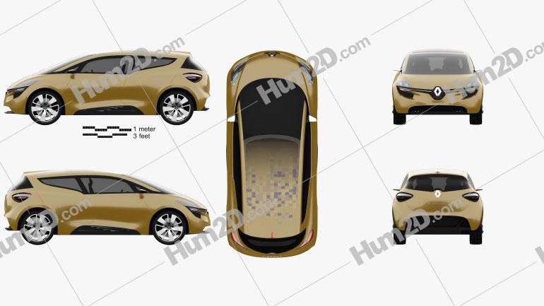 Renault R-Space 2011 car clipart