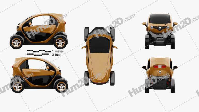 Renault Twizy ZE Cargo 2013 car clipart