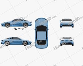Renault Alpine A110 Premiere Edition 2017 car clipart