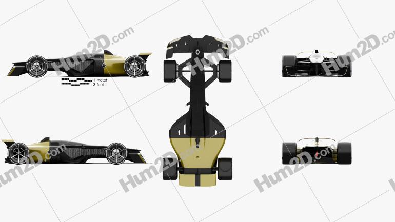 Renault RS Vision 2027 car clipart
