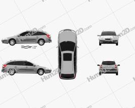 Renault Laguna estate 2000 car clipart