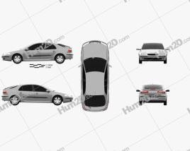 Renault Laguna liftback 2000 car clipart