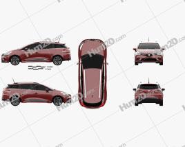 Renault Clio Signature Nav Estate 2016 car clipart