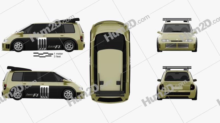 Renault Espace F1 1994 clipart