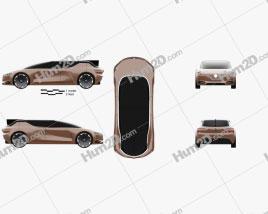 Renault Symbioz concept 2017 car clipart