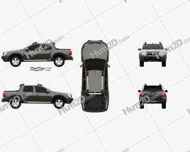 Renault Duster Oroch BR-spec 2015 car clipart