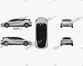 Renault Symbioz 2 concept 2017 Clipart