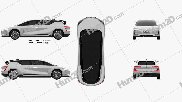Renault Symbioz 2 concept 2017 car clipart