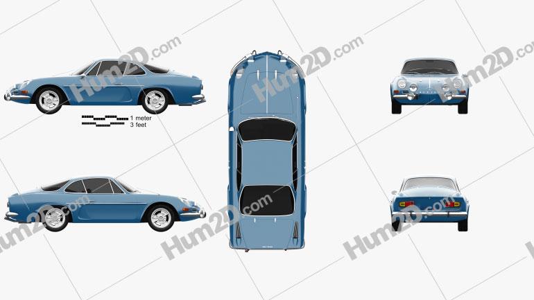 Renault Alpine A110 1600S 1972 car clipart