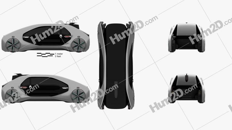 Renault EZ-GO 2018 car clipart