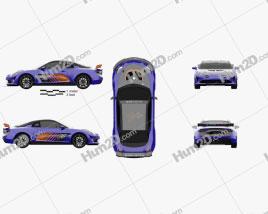 Renault Alpine A110 GT4 2017 Purple car clipart