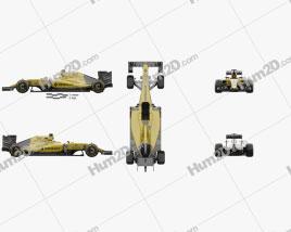Renault R.S.16 2016 car clipart
