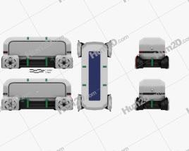 Renault EZ-PRO autonomous 2018 clipart