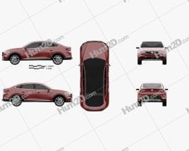Renault Arkana 2018 car clipart