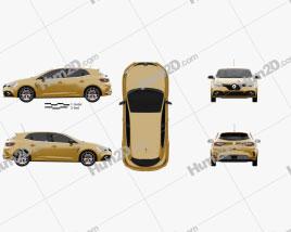 Renault Megane RS Trophy 300 hatchback 2018 car clipart