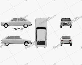 Renault 16 1965 car clipart