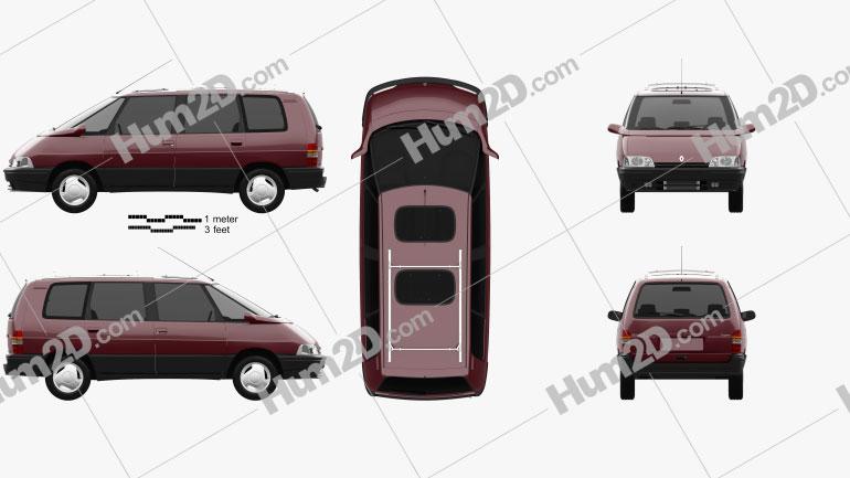 Renault Espace 1991 Clipart Image