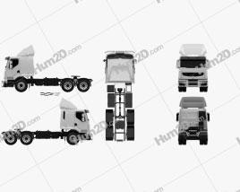 Renault Premium Lander Tractor Truck 3-axle 2006 clipart