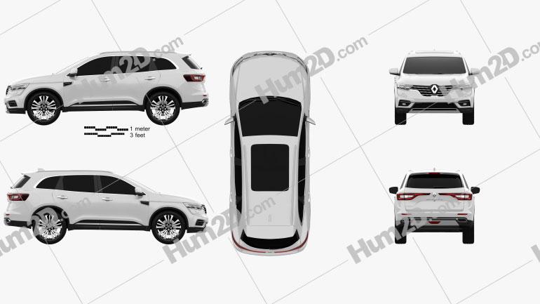 Renault Koleos 2020 car clipart