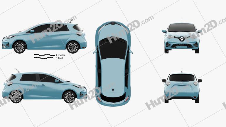 Renault Zoe 2020 car clipart