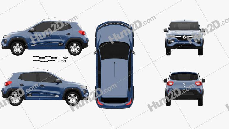 Renault Kwid 2020 car clipart