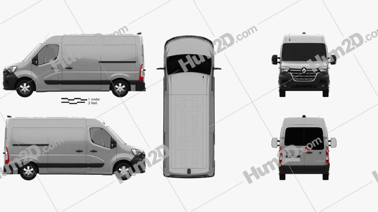 Renault Master L2H2 Panel Van 2019 clipart