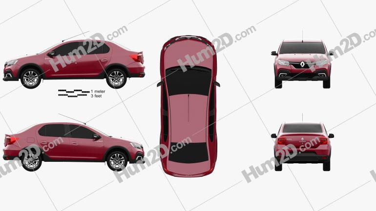 Renault Logan Stepway City CIS-spec 2018 car clipart