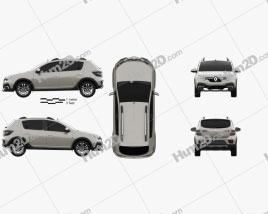 Renault Sandero Stepway Latam-spec 2019 car clipart