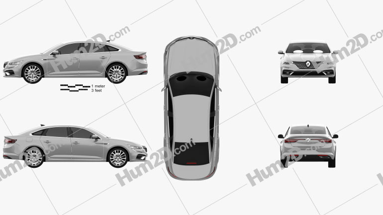 Renault Talisman sedan 2020 Clipart Image