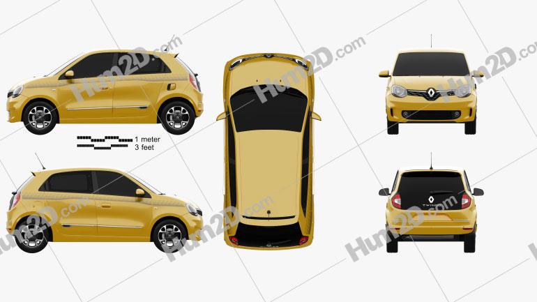 Renault Twingo 2021 car clipart