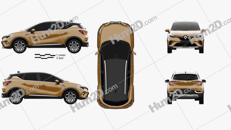 Renault Captur 2020 car clipart