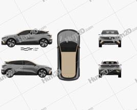 Renault Megane eVision 2020 car clipart
