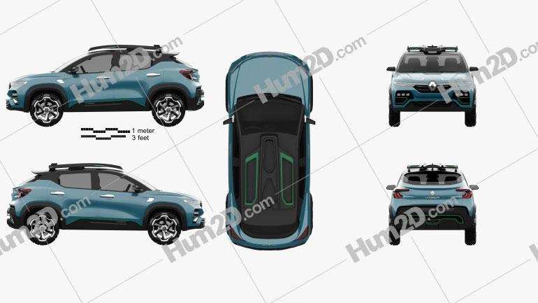 Renault Kiger 2020 Clipart Image